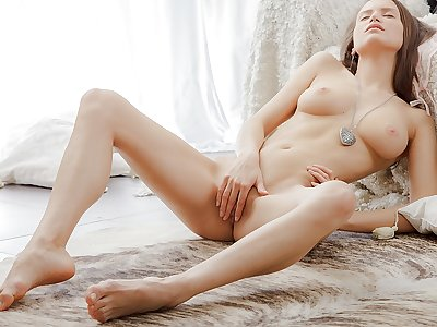 Glamour stellar movie with a woman stroking